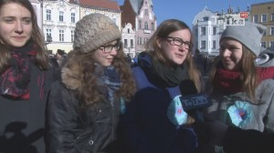 Polonez maturzystów na ulicach Tczewa
