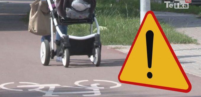piesi na ścieżkach rowerowych