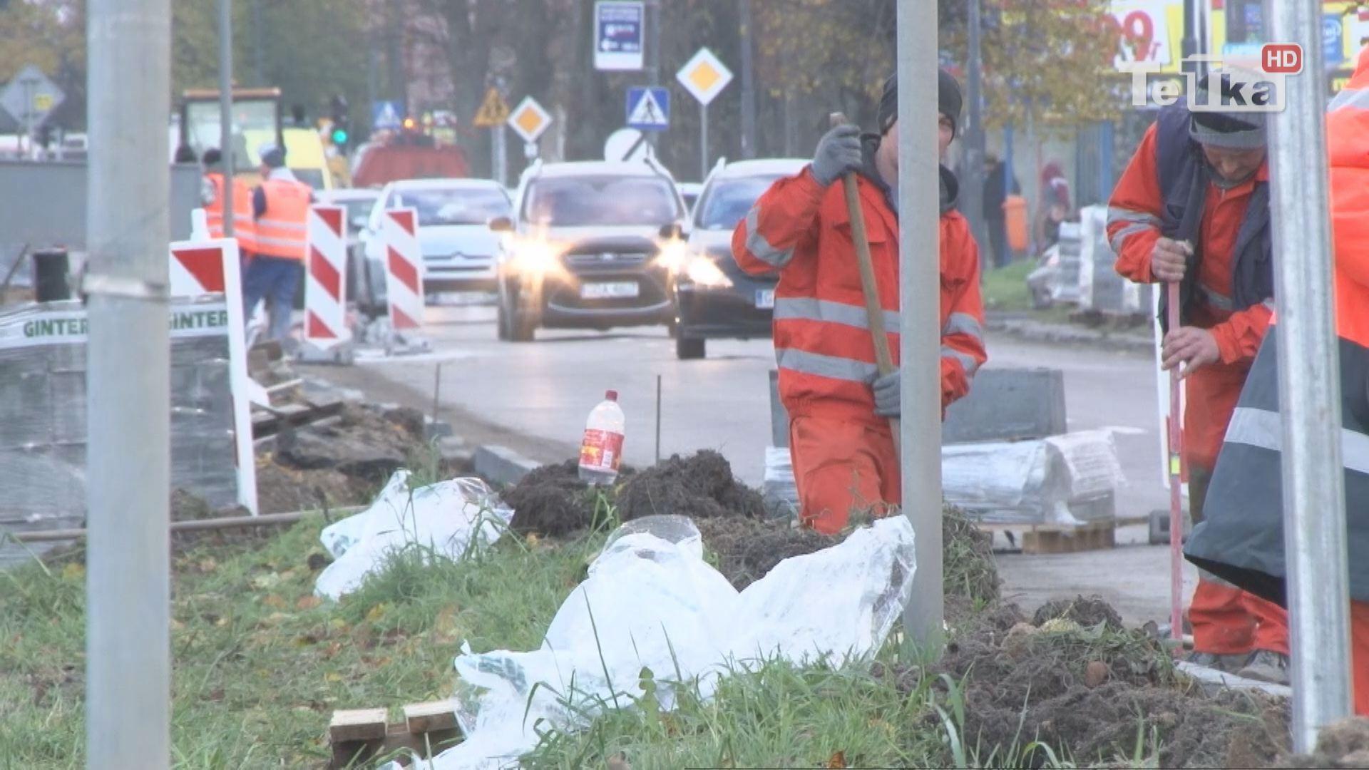 Remont chodnika przy Jagiellońskiej