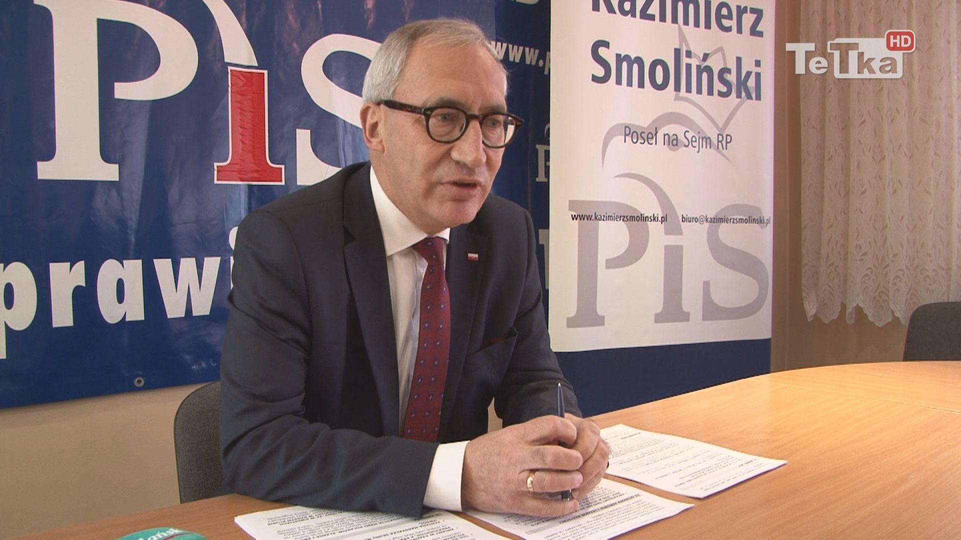 Konferencja prasowa Kazimierza Smolińskiego, wiceministra infrastruktury