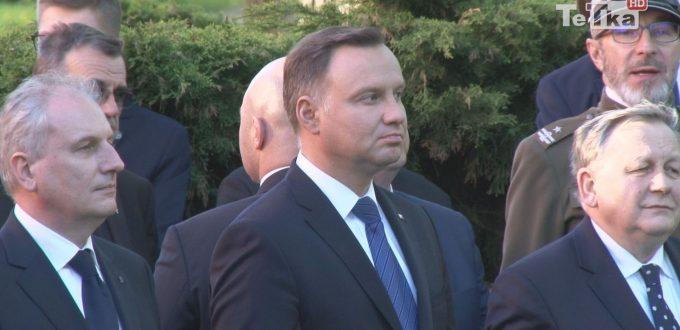 Prezydent Polski Andrzej Duda spotkał się z mieszkańcami Pelplina