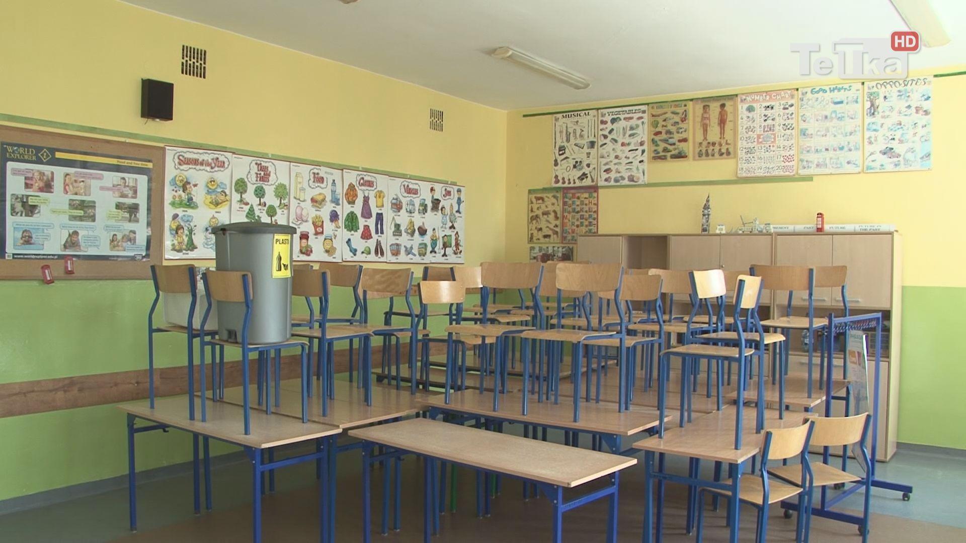 remont klas w szkole podstawowej nr 8 idzie pełna parą
