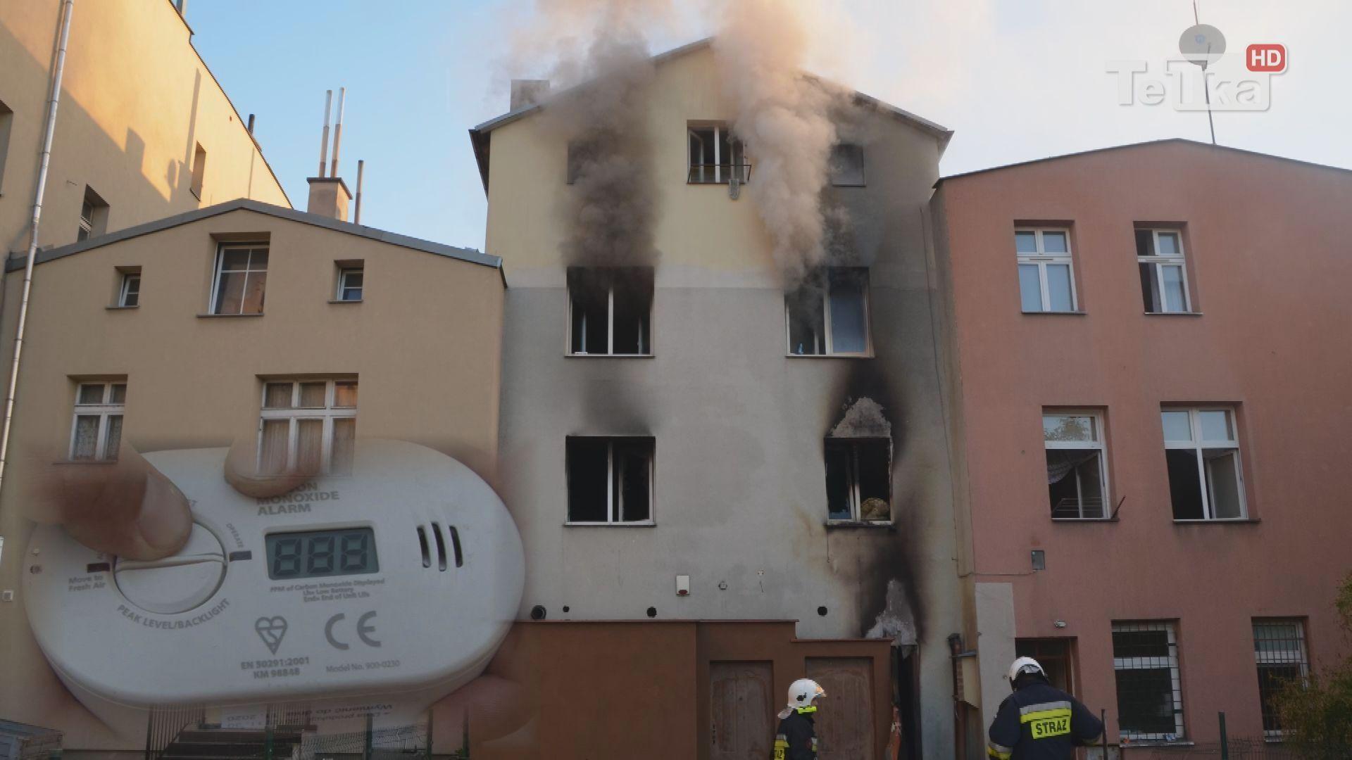 strażacy apelują o rozwagę i zachęcają do instalowania czujek dymu i tlenku węgla