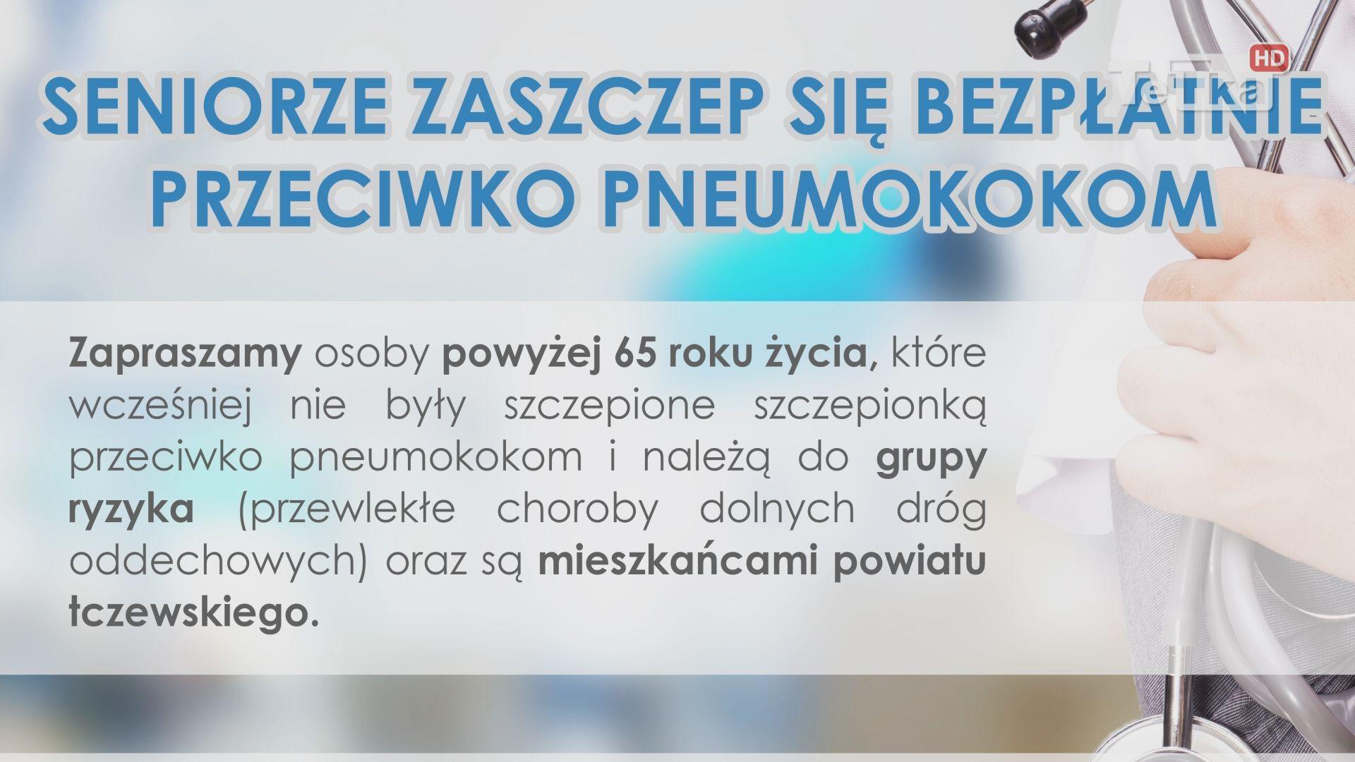 w powiecie tczewskim szczepią seniorów przeciwko pneumokokom