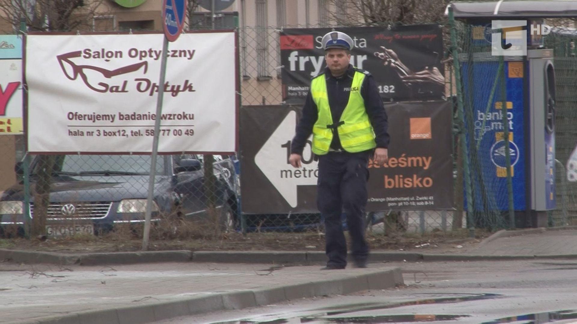 Policja skontrolowała zebrę i autostradę