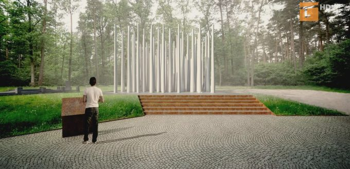 pomnik w Lesie Szpęgawskim