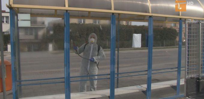 Tczewskie przystanki komunikacji miejskiej są dezynfekowane