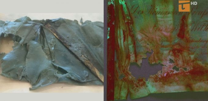 Uratowano pergaminy z kapsuły czasu