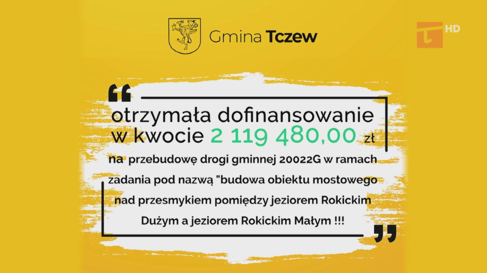 Gmina Tczew otrzyma dofinansowanie w ramach Funduszu Dróg Gminnych