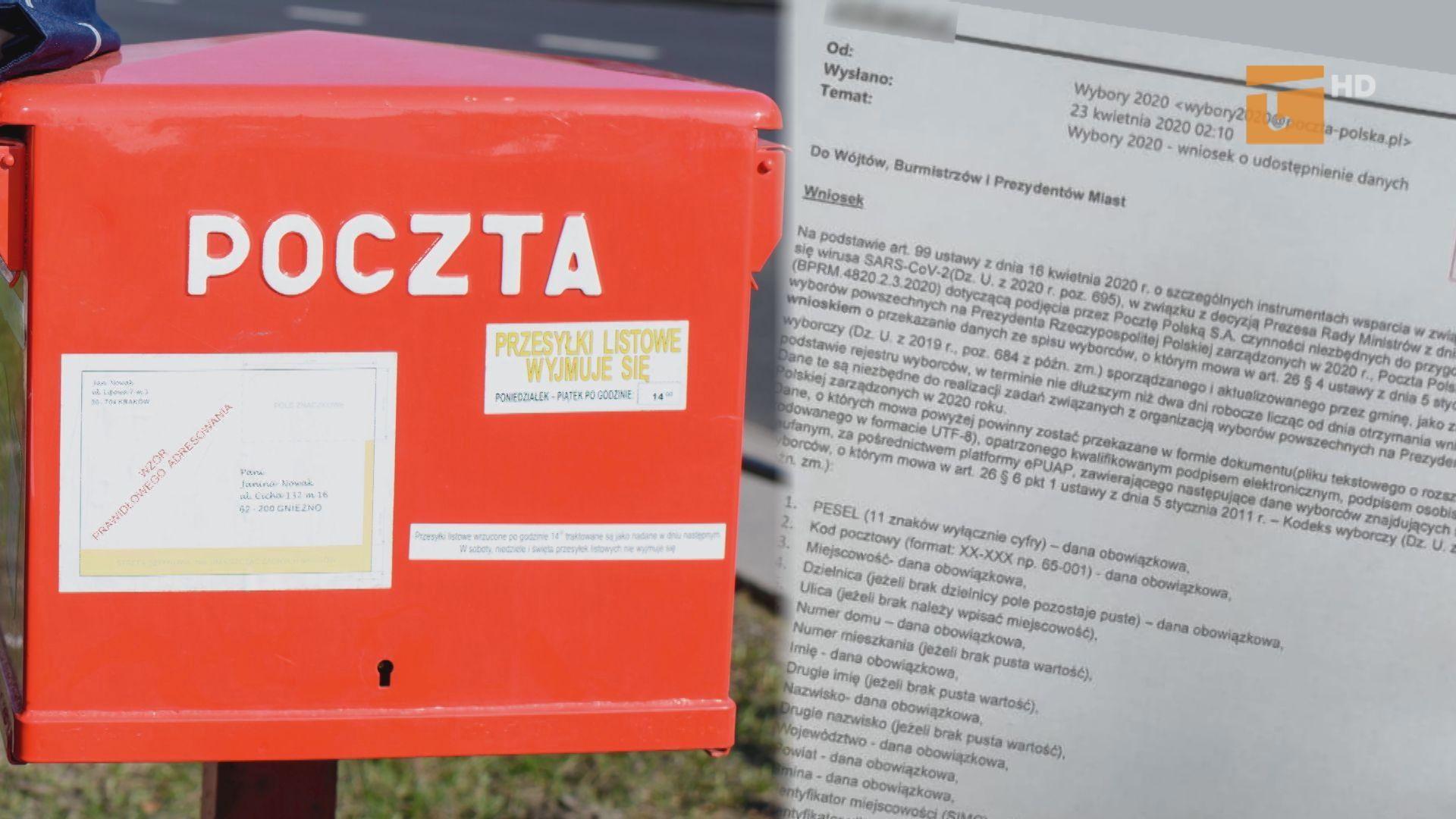 Poczta chciała wyłudzić dane wyborców