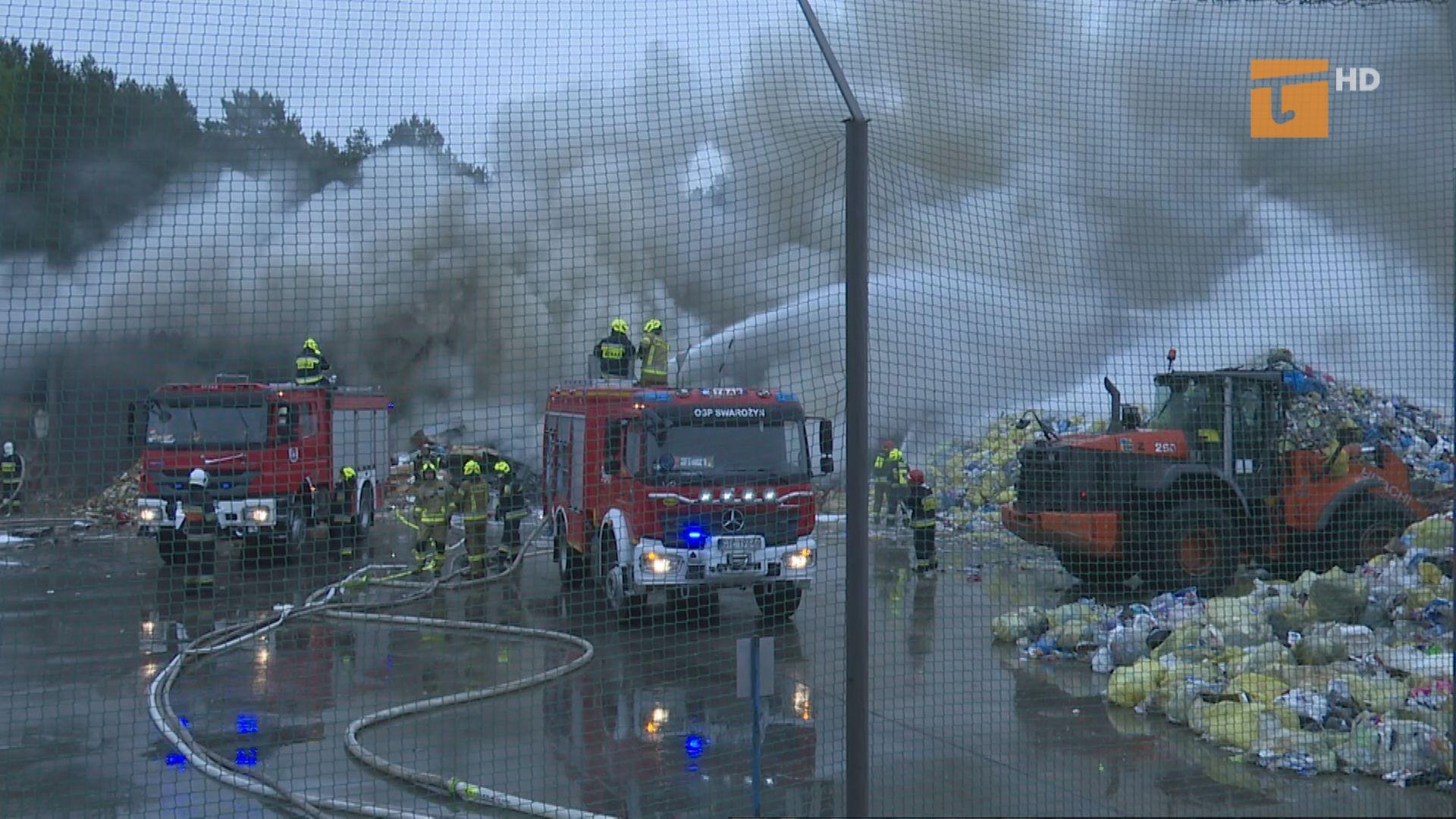 Pożar śmieci w tczewskim ZUOS
