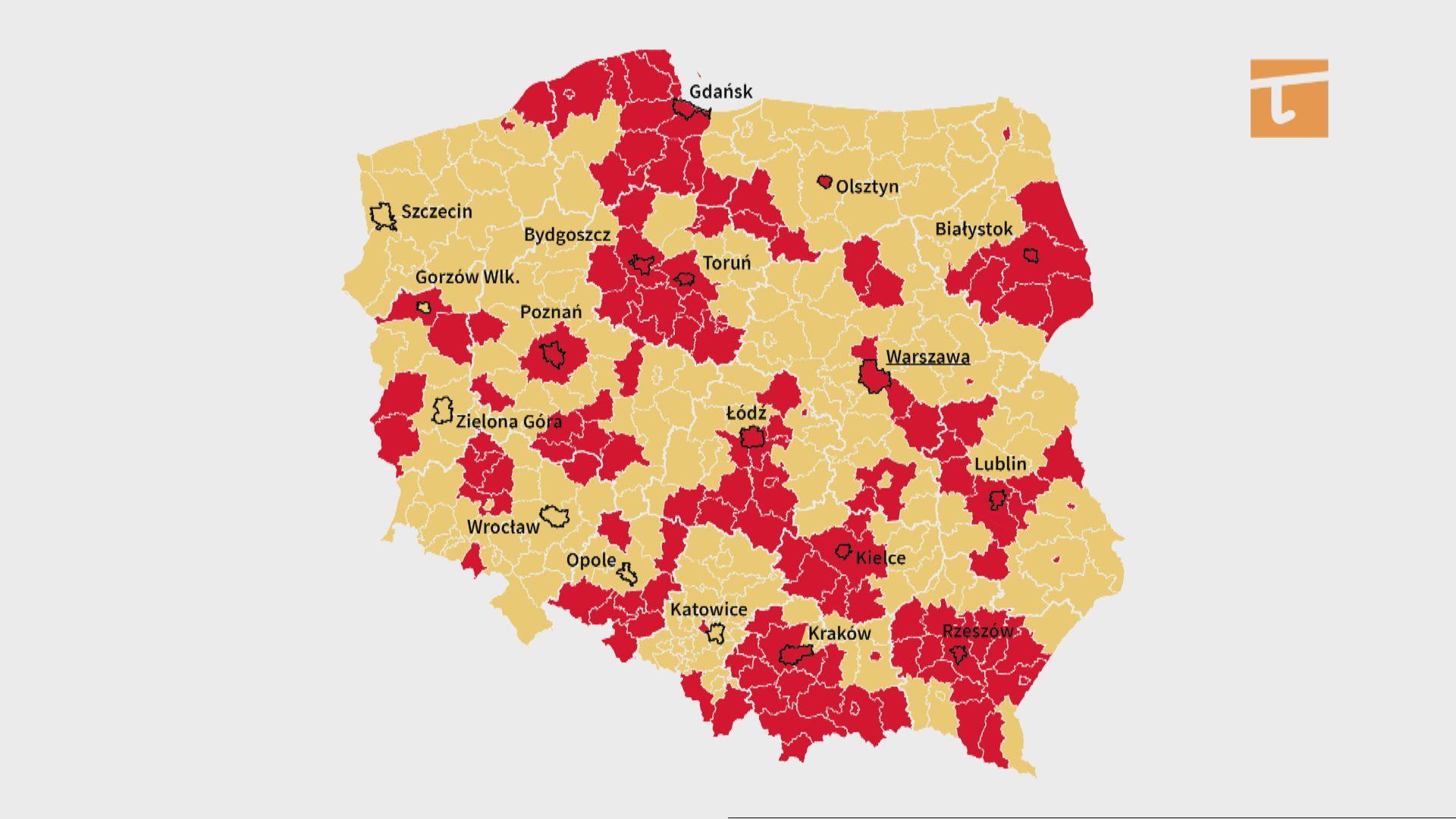 Powiat tczewski w strefie czerwonej