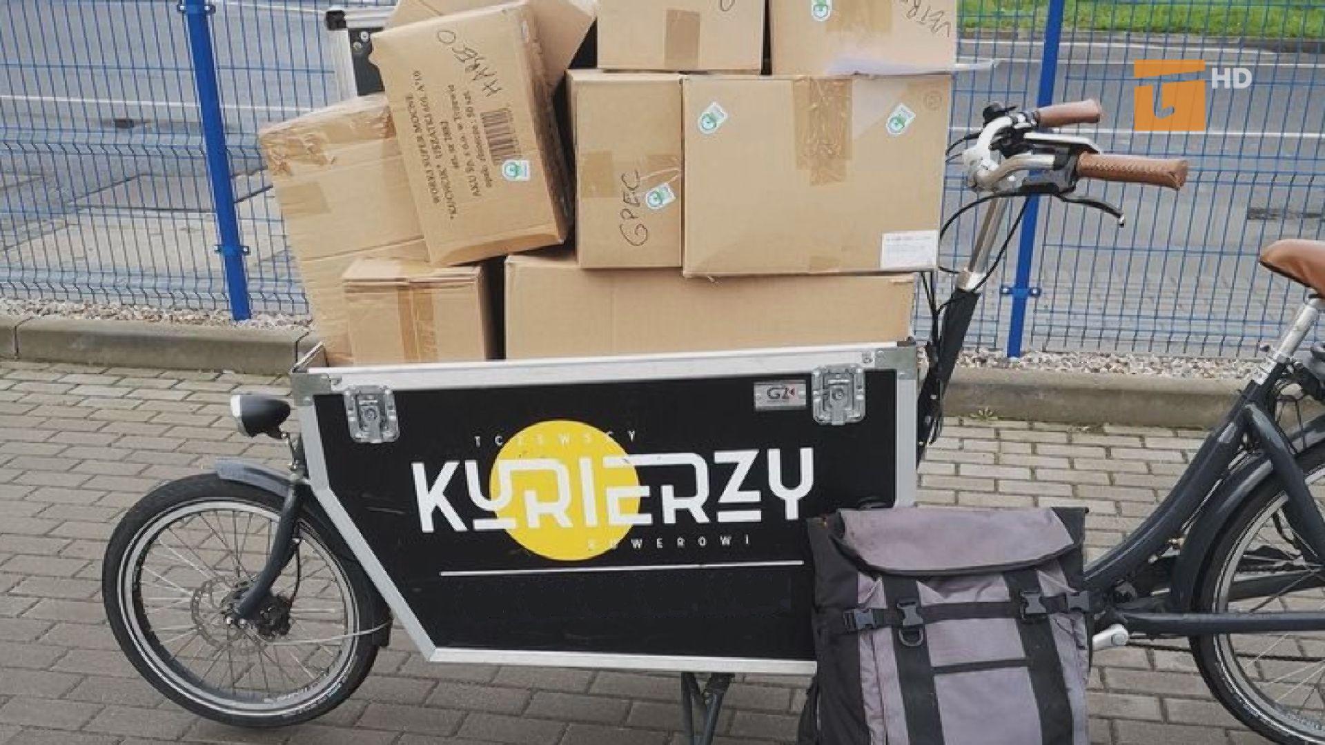 Kurierzy rowerowi na usługach gdańszczan